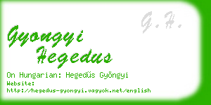 gyongyi hegedus business card